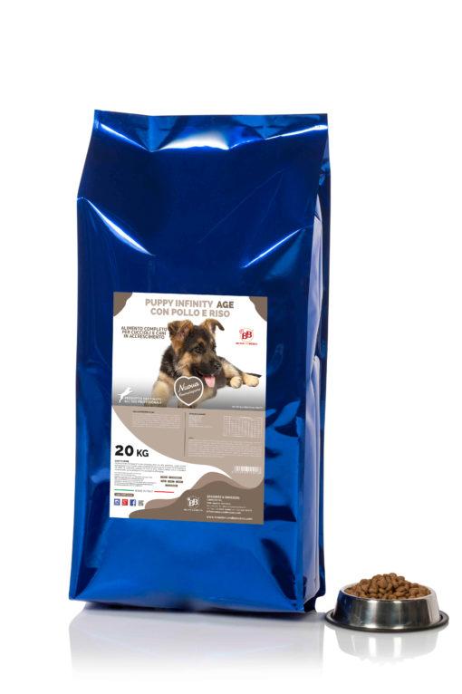 Crocchette cibo secco per cani puppy infinity age