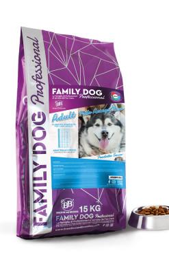 Alimento completo crocchette cibo secco per cani adulti in attività a base di Pollo Aringa e Riso