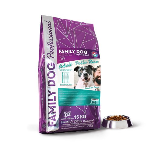 Alimento completo crocchette cibo secco per cani adulti in attività a base di Pollo e Riso